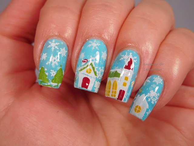 Winstonia Winter Wonderland over Spellbound Nails Let It Snow
