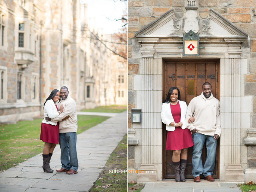 University of Michigan Law Quad Engagement session - Sudeep Studio.com