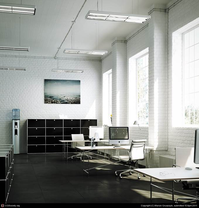 Sunny Office by Marcin Gruszczyk