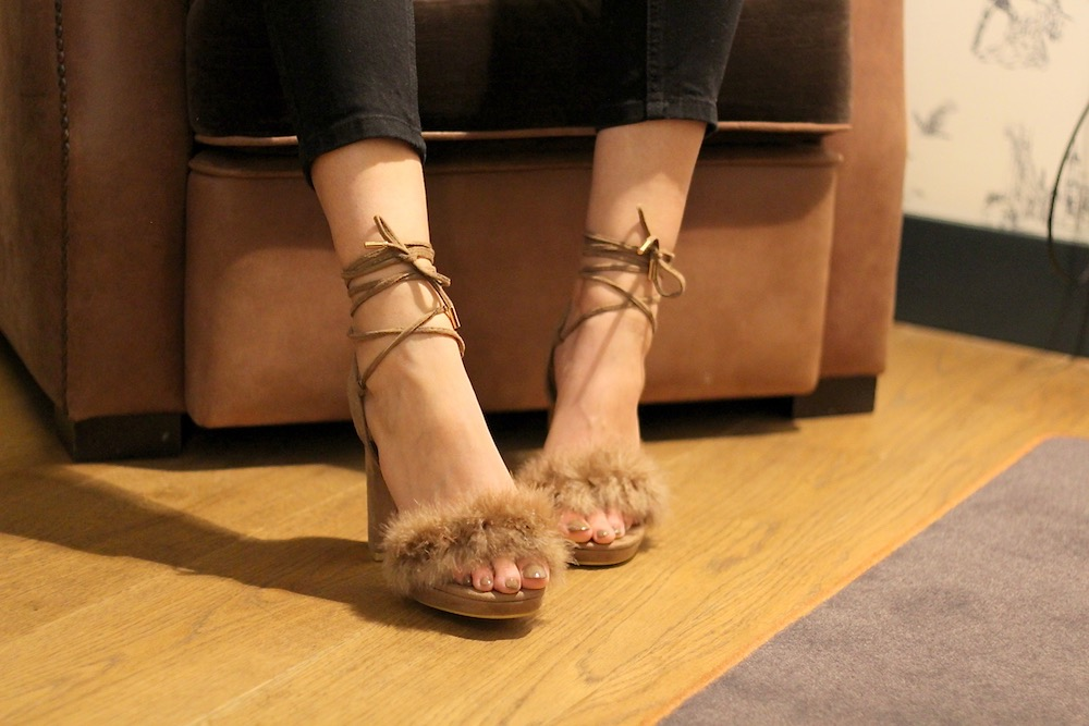 quanticlo faux fluffy heels