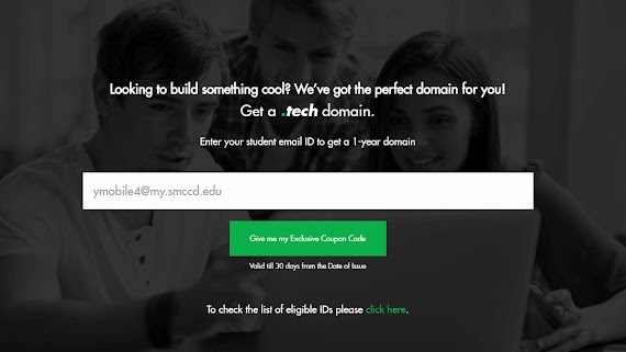Domain TLD .Tech Gratis