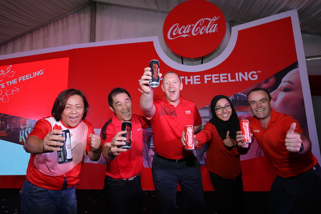Celebrating the launch of the new 'One Brand' strategy – Taste the Feeling in Malaysia on the company's 80th year anniversary, with a Coca-Cola toast.