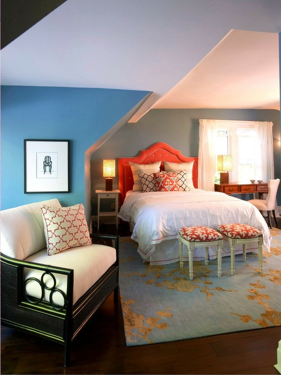 Blue And Orange Living Room Ideas: Eye For Design: Decorating With The Blue/Orange Color