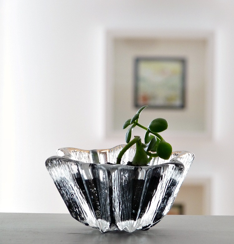 Small scale glass planter