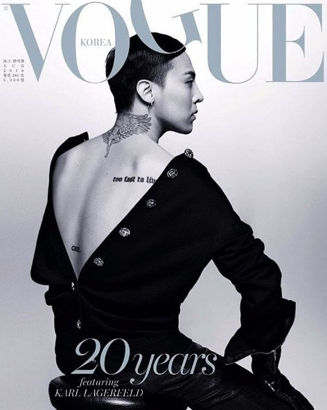 G-Dragon is Glamorous in the Cover of Vogue Korea 20th Anniversary ...