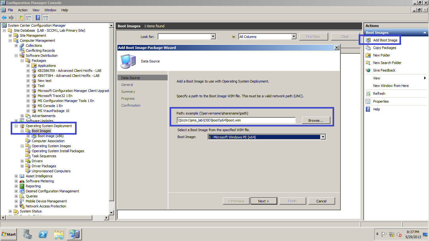 Retrieving deleted OSD Boot Images -SCCM