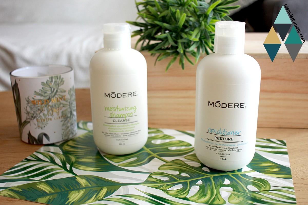 avis shampooing et après-shampooing cheveux secs modere
