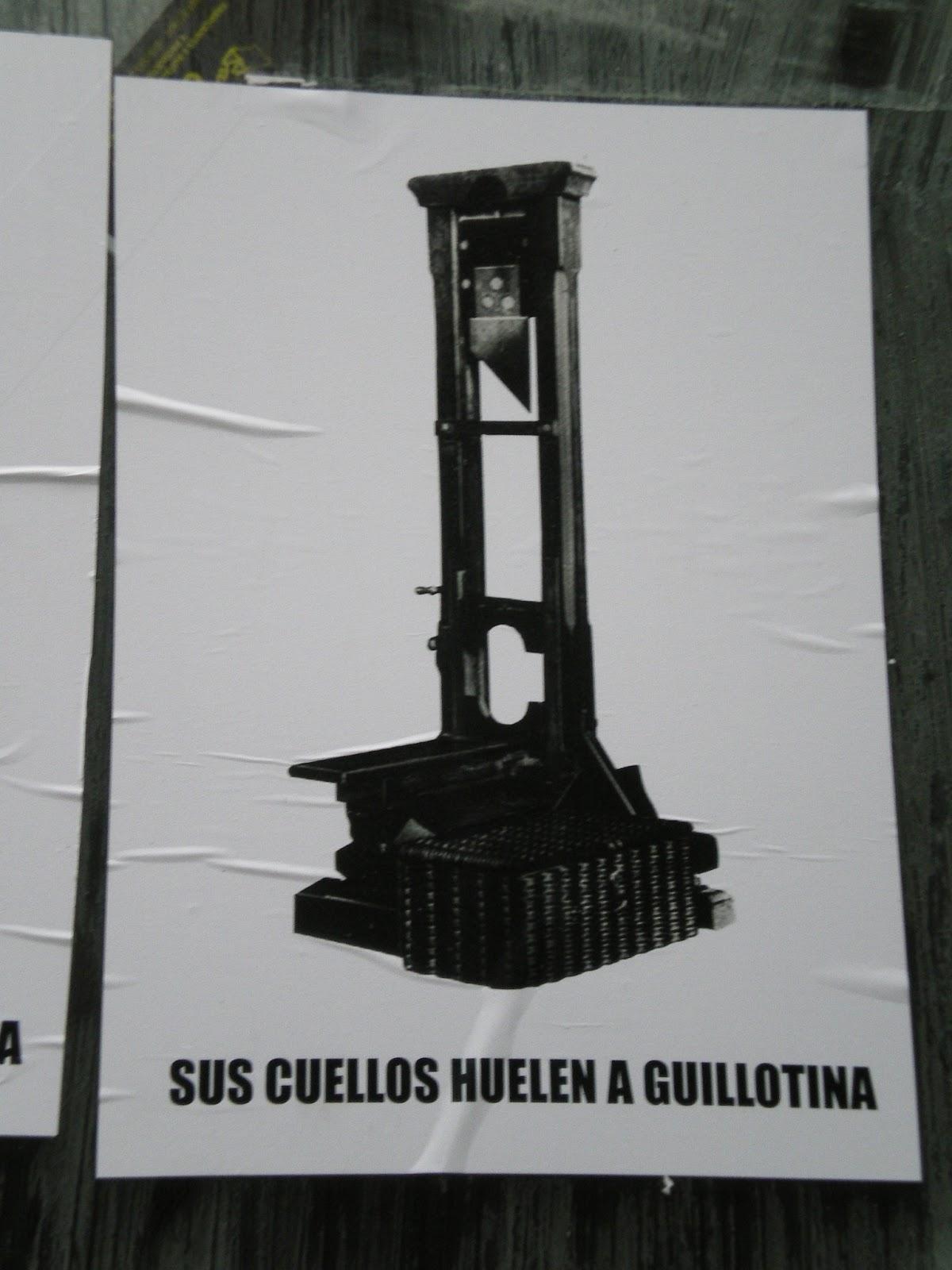 sus cuellos huelen a guillotina