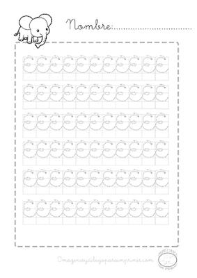 ejercicios de caligrafia para imprimir gratis