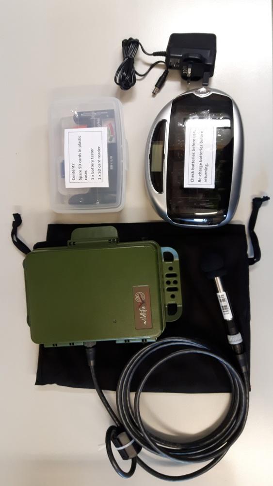 Devon Wildlife Trust. Bat detector, microphone and other kit