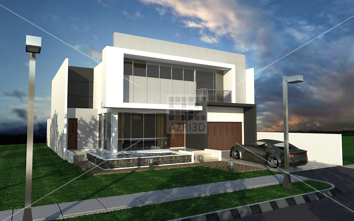 Azri3d 39 s max and sketchup tutorial sketchup daytime vray - Exterior rendering in 3ds max with vray ...