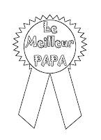 medaille fete des peres super papa vierge