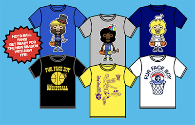 NBA 2018-2019 Season T-Shirt Collection by Fur Face Boy