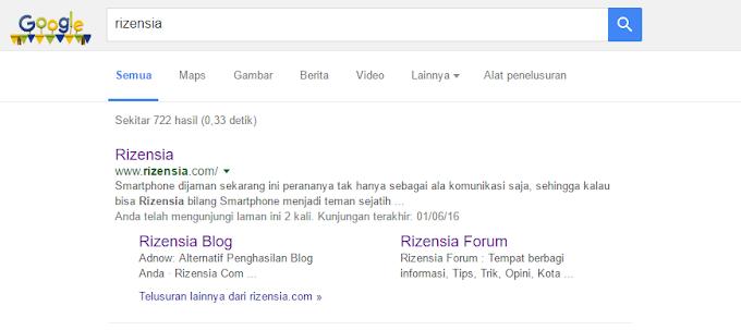 Sitelink Rizensia.com Akhirnya Muncul Juga