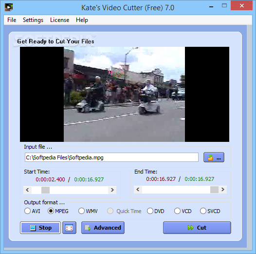 تحميل برنامج تقطيع الفيديو للكمبيوتر مجانا Kate's Video Cutter 7.0
