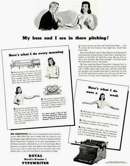 oz.Typewriter: Daily and Weekly Care of Your Royal Typewriter