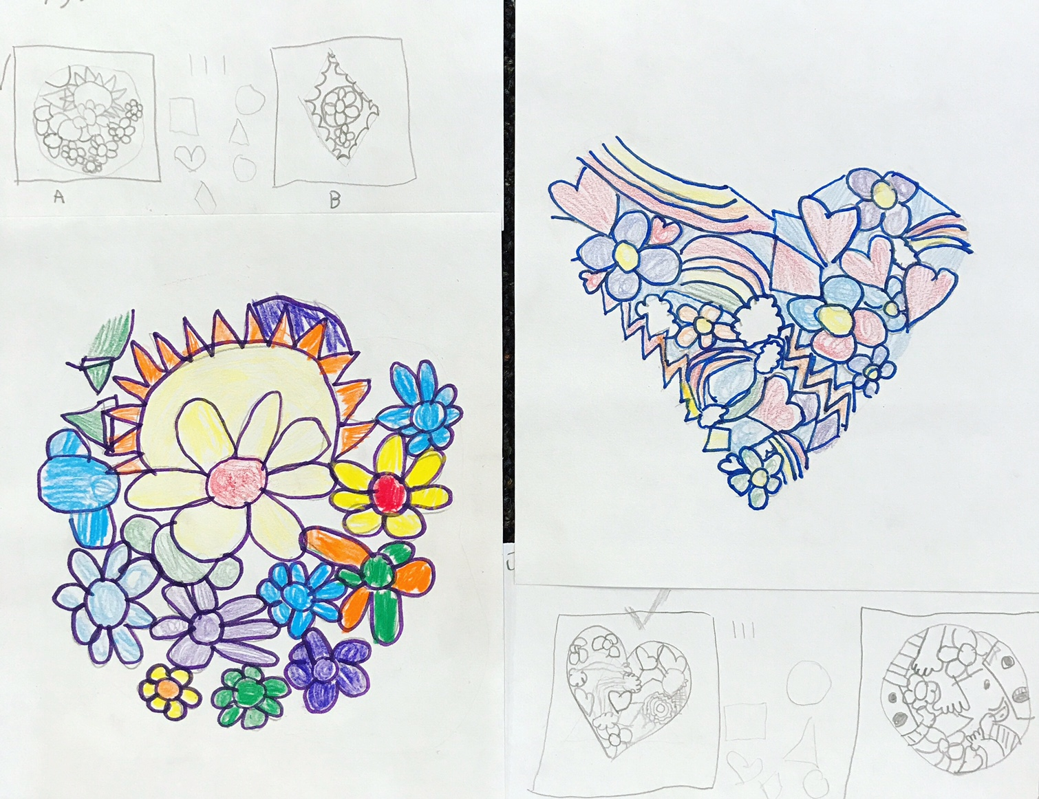 When Adding Color To The Final Drawings Students Could Use Any Colors They Wanted And I Reminded Them That Press Hard Soft Make Dark