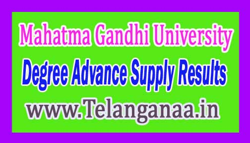 MGU Degree Advance Supply Results 2016
