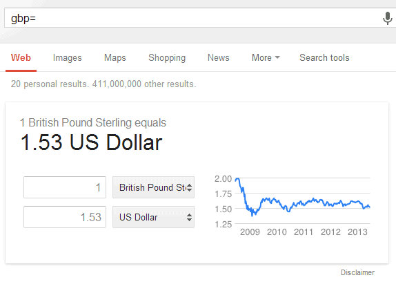 Google Currency Conversion Tips