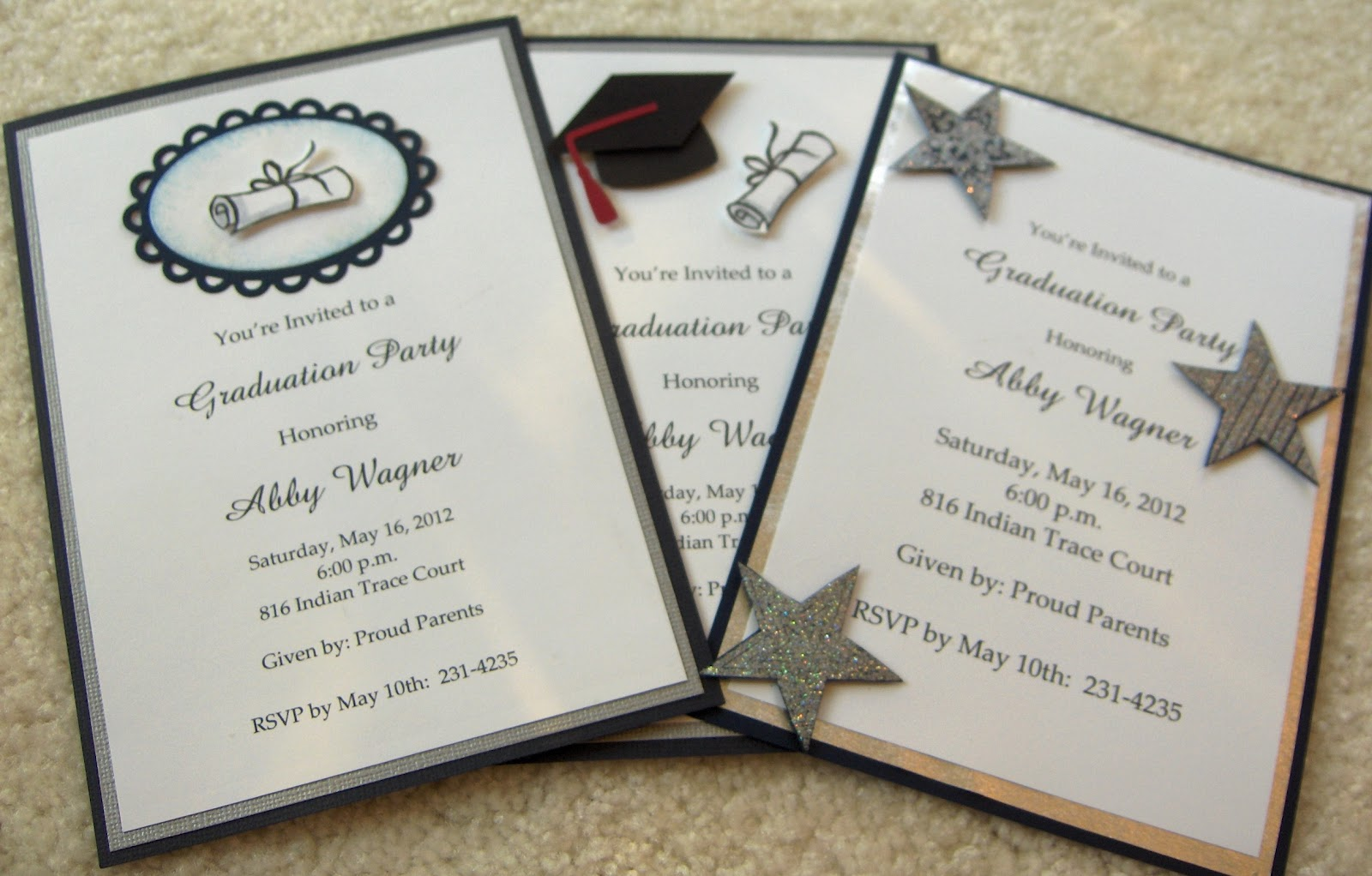 Crafty Magra Graduation Invitations