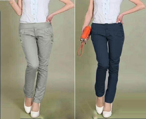 Jual Celana Panjang Long Basic Pants Jumbo - 13487