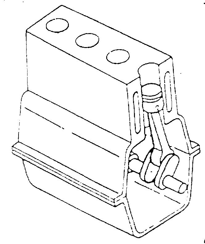 In Line engine : Silinder disusun dalam satu garis