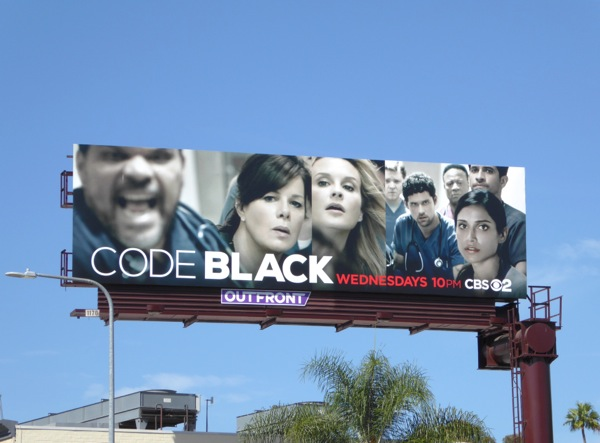 Code Black series launch billboard