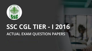 SSC CGL 2016 Tier-I Question Paper 29 August 3rd Shift With Answer Key