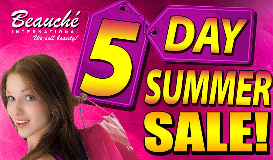 5 day summer Sale May 27 to 31, 2016