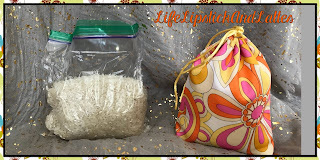 fabric bag doorstop, rice for weight, diy, doorstop, cosmetic bags