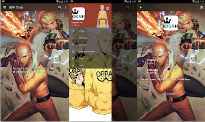 BBM One Punch Man MOD v3.0.1.25 Full Features Apk Clone / Unclone Terbaru 2016