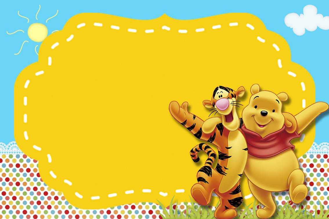 Fiesta De Winnie The Pooh Invitaciones Para Imprimir Gratis