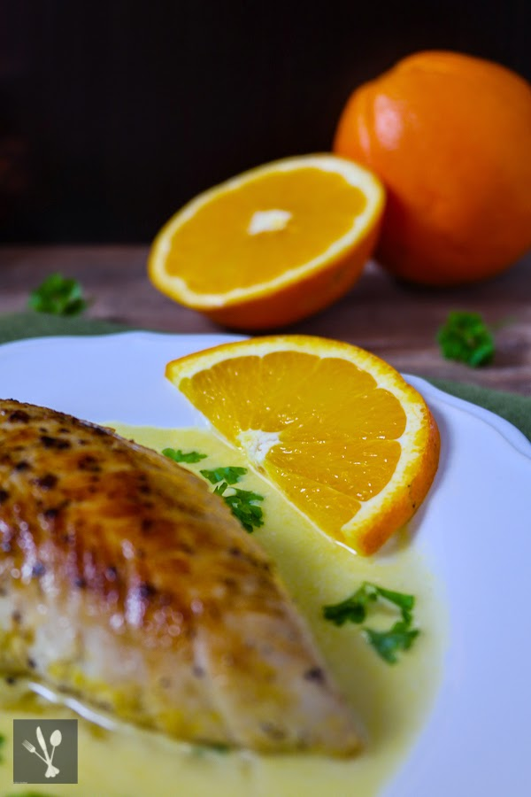 Pute mit Orangensauce