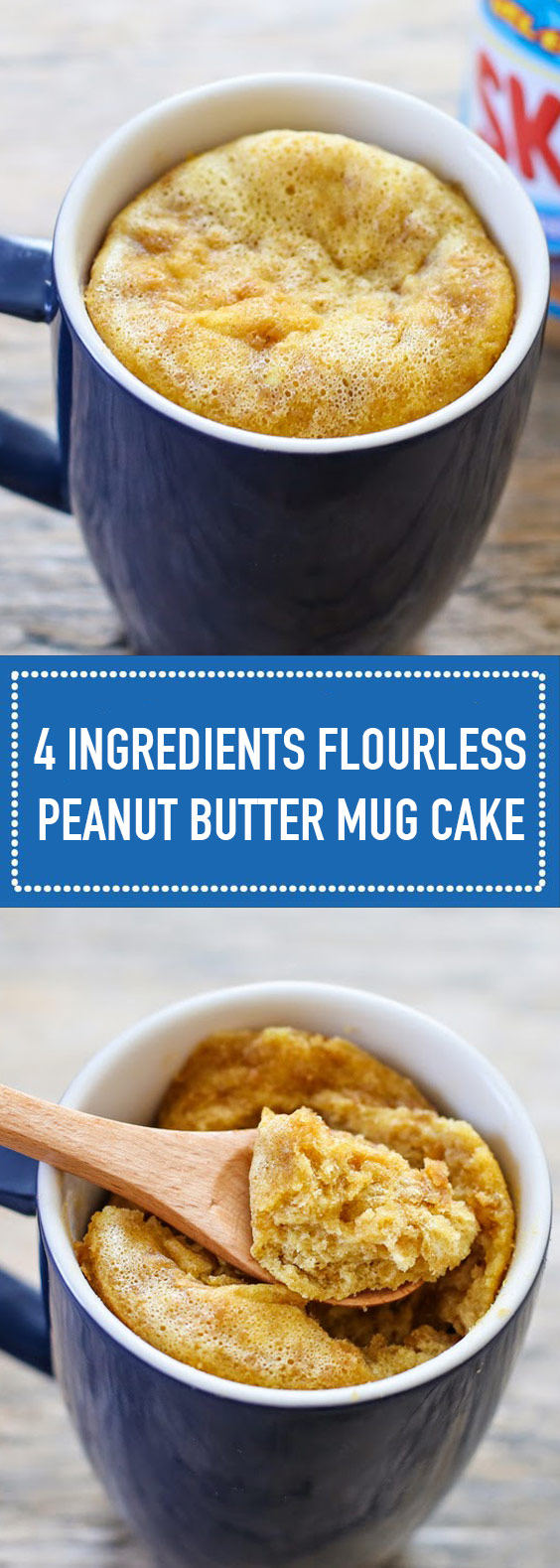 Flourless Peanut Butter Mug Cake