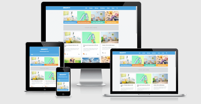Download Gravity Responsive SEO Friendly Blogger Template