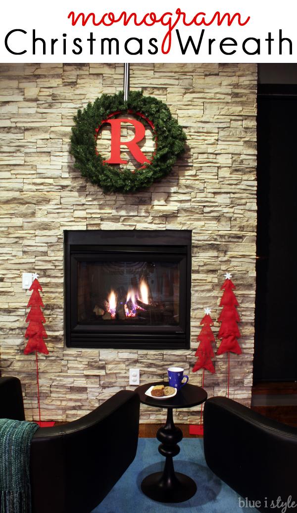 Easy DIY Monogram Christmas Wreath