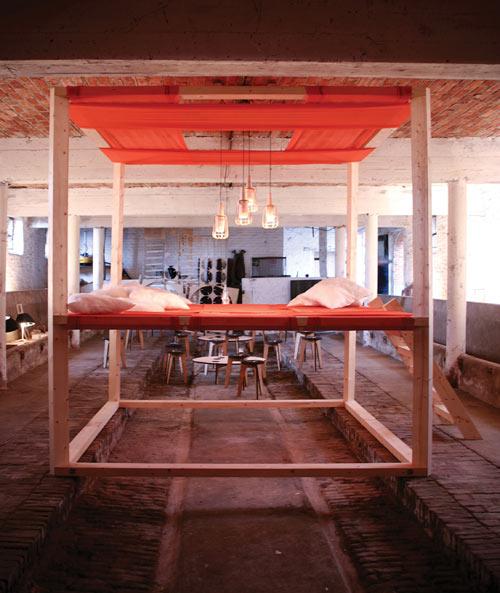 Hamaca o cama,  espacio de descanso muy creativo.