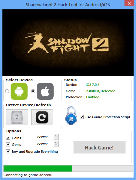 hack tool for shadow fight 2 without survey