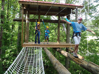 Family Friendly Ropes Course in the Tennessee Smoky Mountains