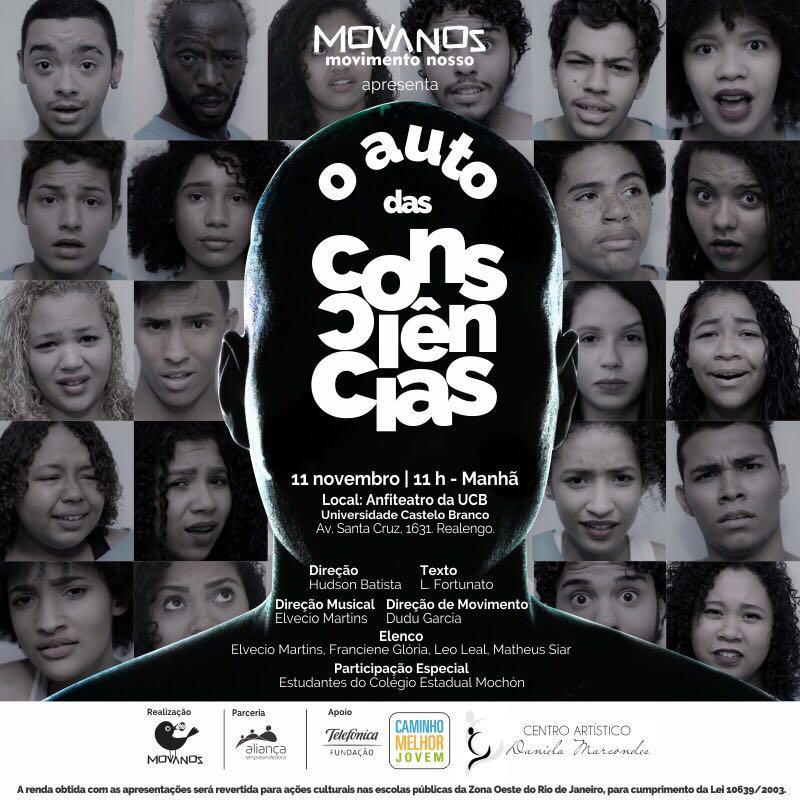 """Musical """"O Auto das Consciências"""" vai divertir o público amanhã na UCB"""