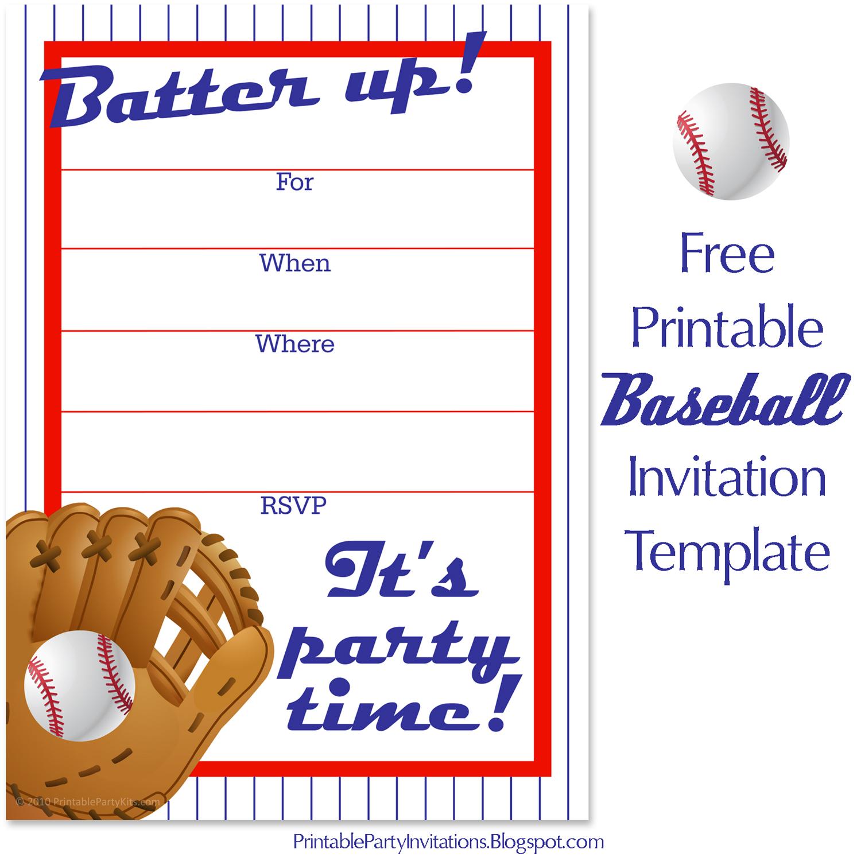 free baseball birthday invitation artwork