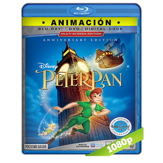 Peter Pan (1953) Anniversary Edition The Signature Collection BRRip 720p Audio Dual Latino-Ingles