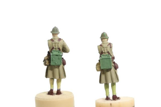 Photos des figurines de l'officier et des radios français de 1939-40 de Gaso.line au 1/48.
