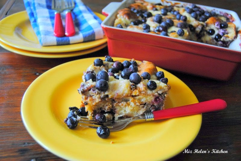 Blueberry Sausage Breakfast Bake