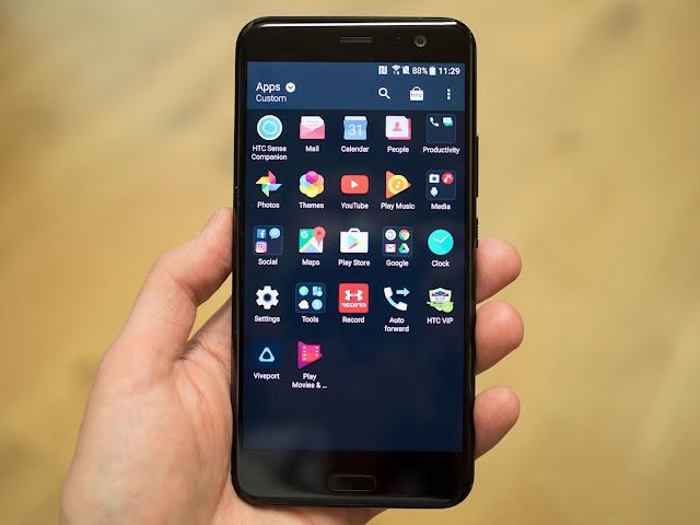 Cara Screenshot di HTC U11