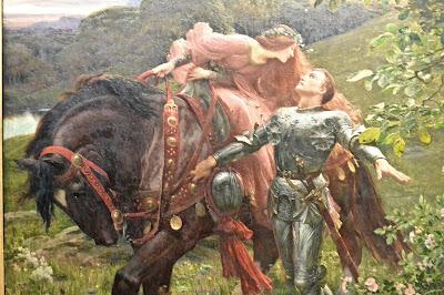 Peintres préraphaélites  : Frank Dicksee (1902) La Belle dame sans merci (musée de Bristol)