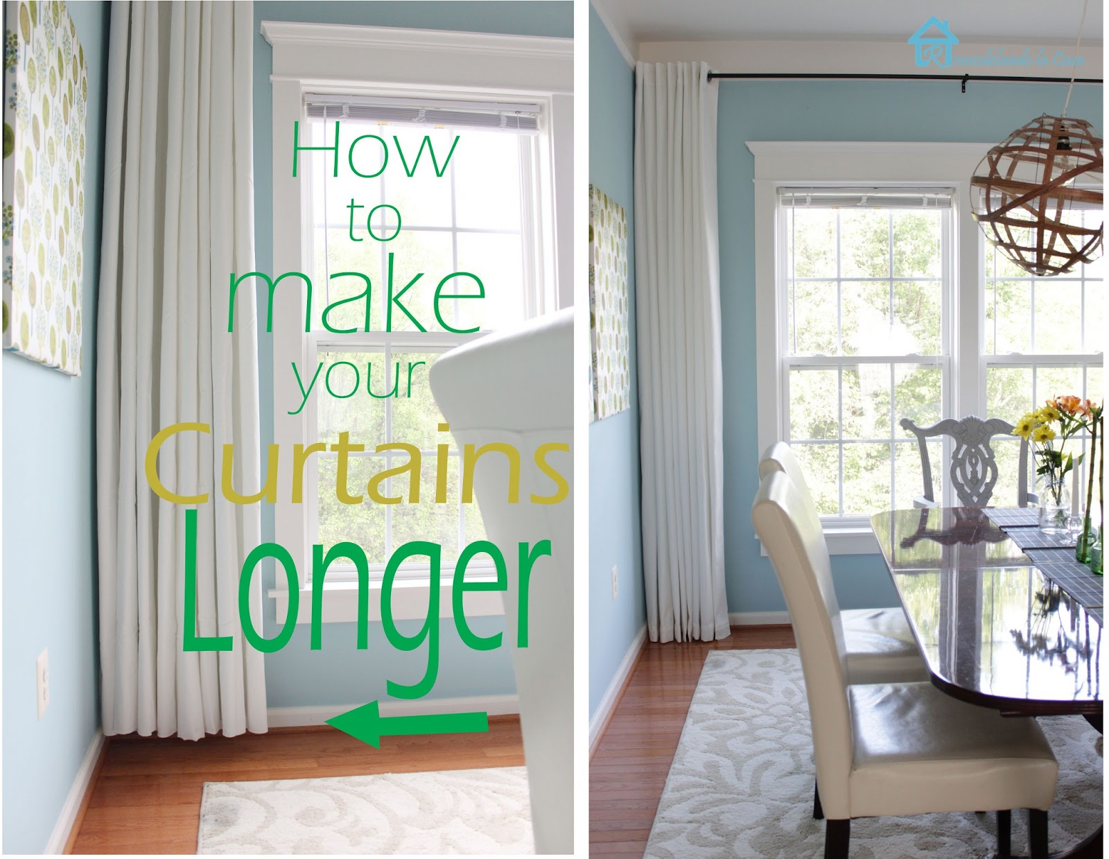 How To Make Your Curtains Longer