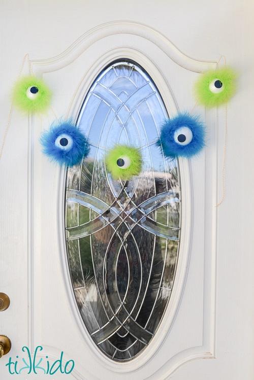 halloween monster eye garland