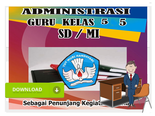 41 File Adminitrasi Guru Kelas 5 SD/MI Format Words