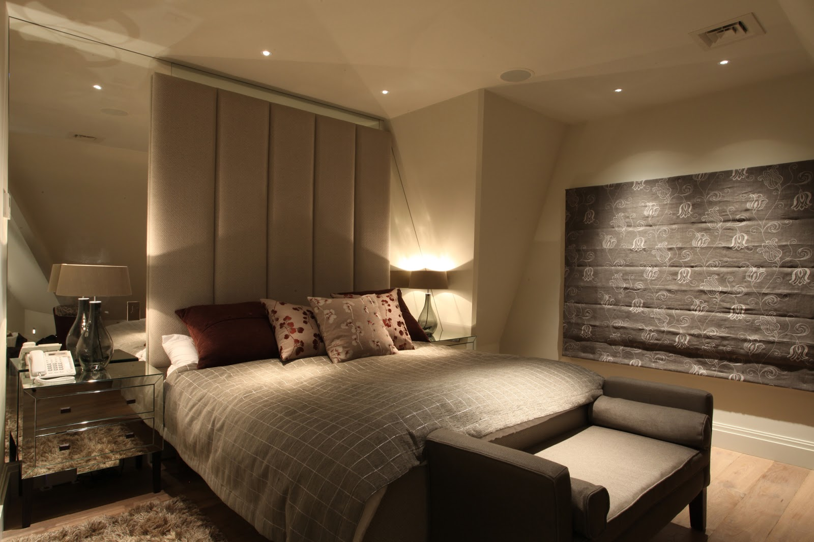 Modern bed side view - King Size Bed With Side Tables If Needed Then Side Table Lamps Etc